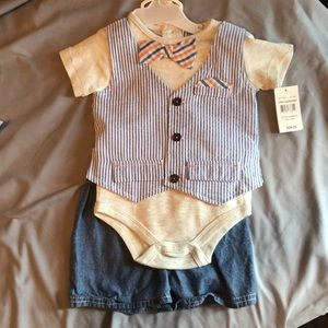 """Dressy"" onesie with shorts"